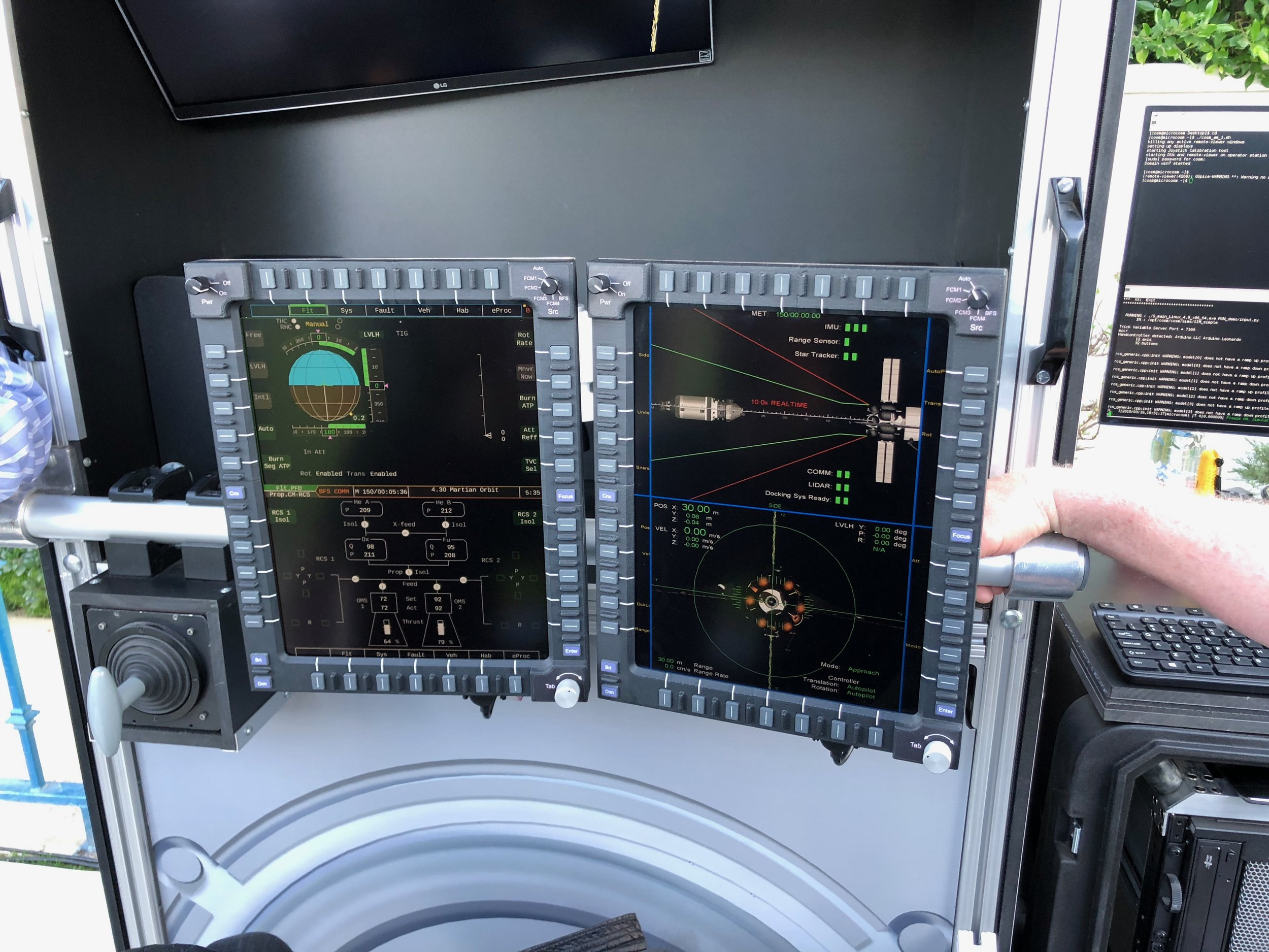 Origin docking simulator - courtesy of Lockheed Martin
