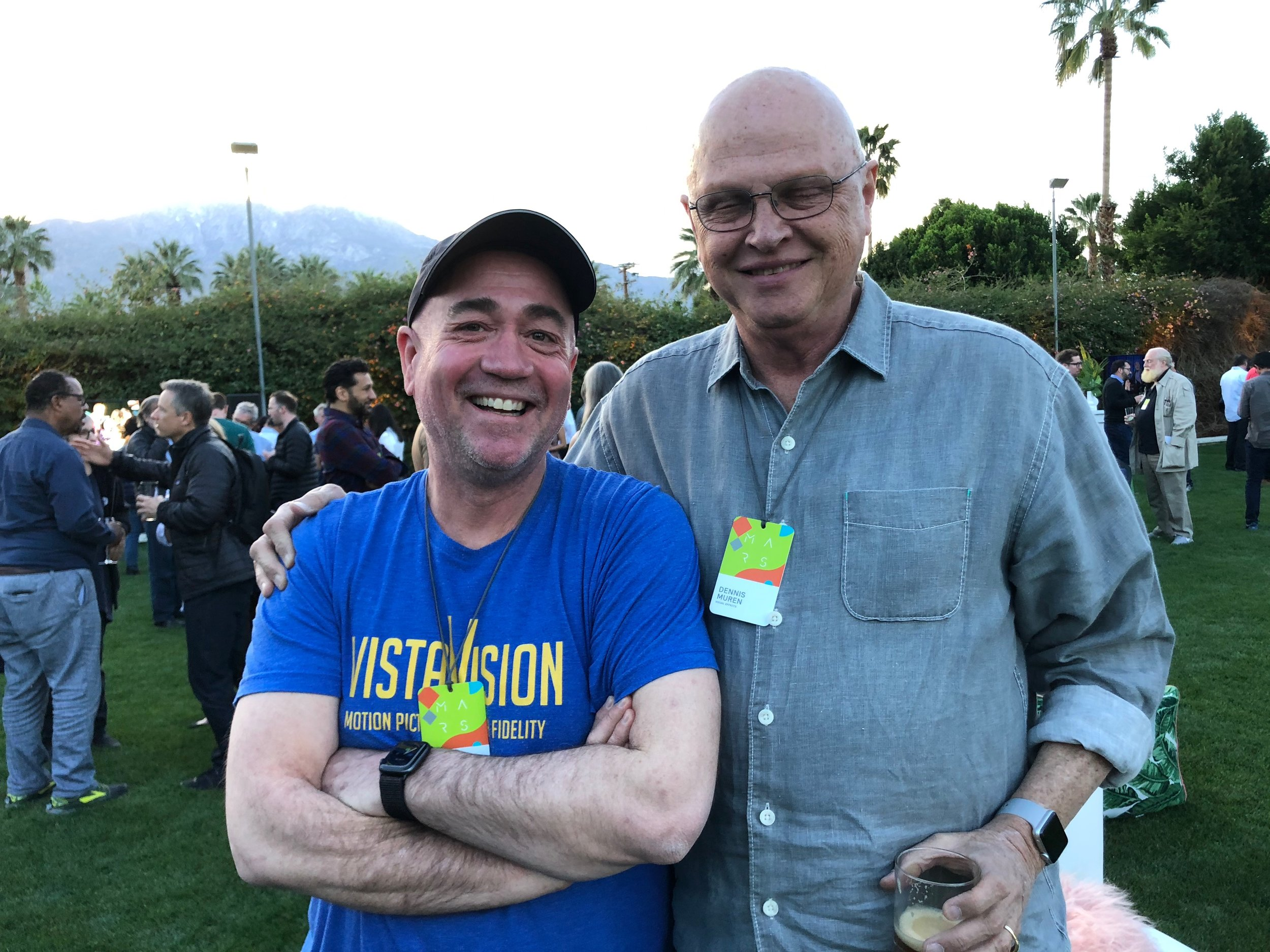 Hanging out with my friend, former ILM colleague, and childhood hero, Dennis Muren.