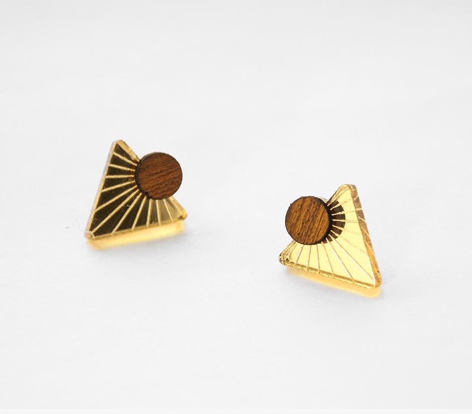 """bijou - boucle d'oreille BO - plexi bois - """"made in france"""" fabriqué en France - assemblé à la main - créateur"""