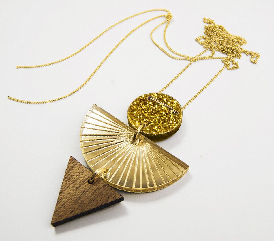 """bijou bijoux - collier sautoir - plexi bois - """"made in france"""" fabriqué en France - assemblé à la main - créateur"""
