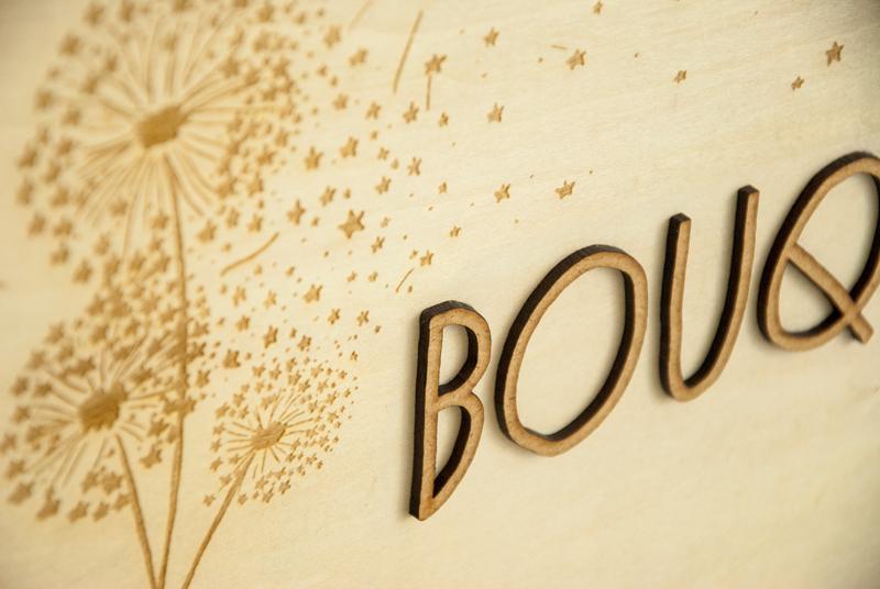 Plaque marque logo sur-mesure en bois