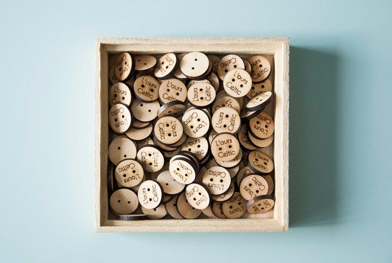 Boutons en bois sur-mesure