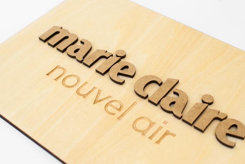 Plaque logo en bois sur-mesure ration / bureau