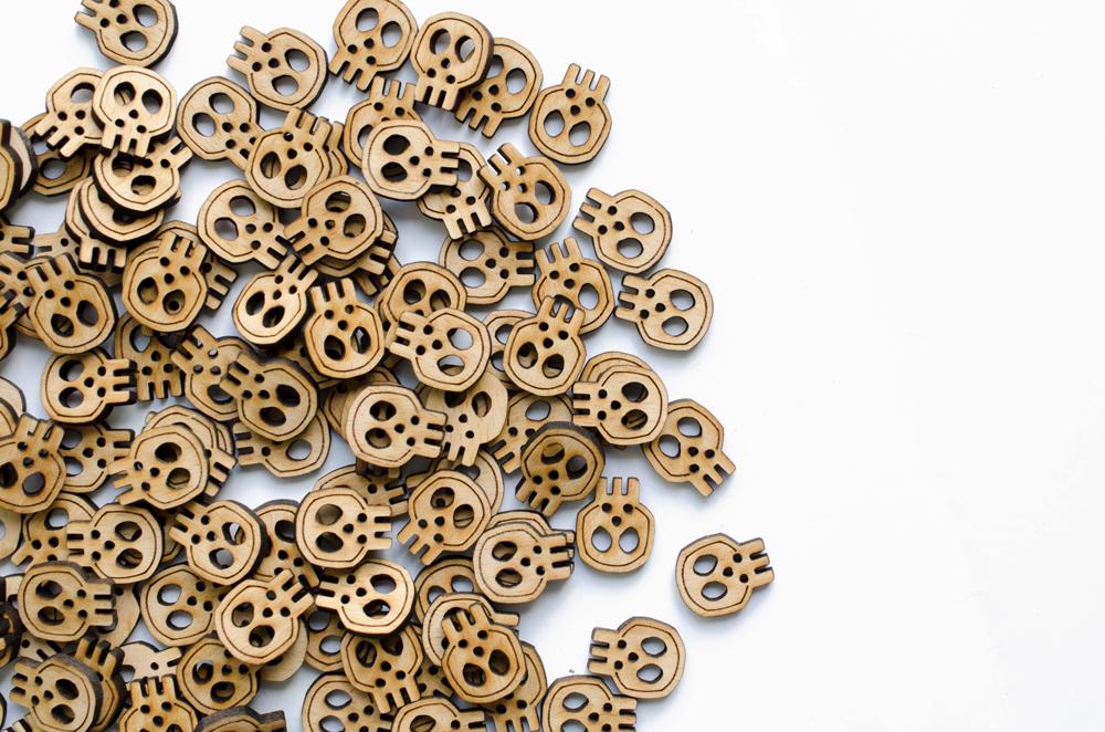 bouton en bois sur-mesure