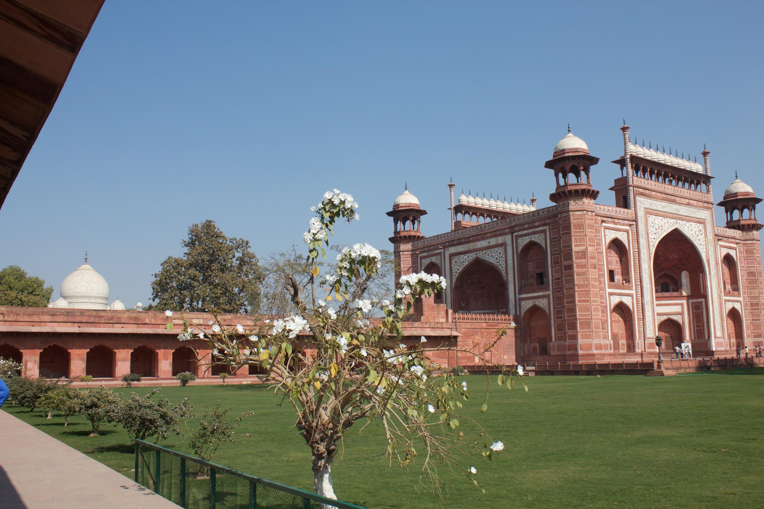 out side the Taj Mahal
