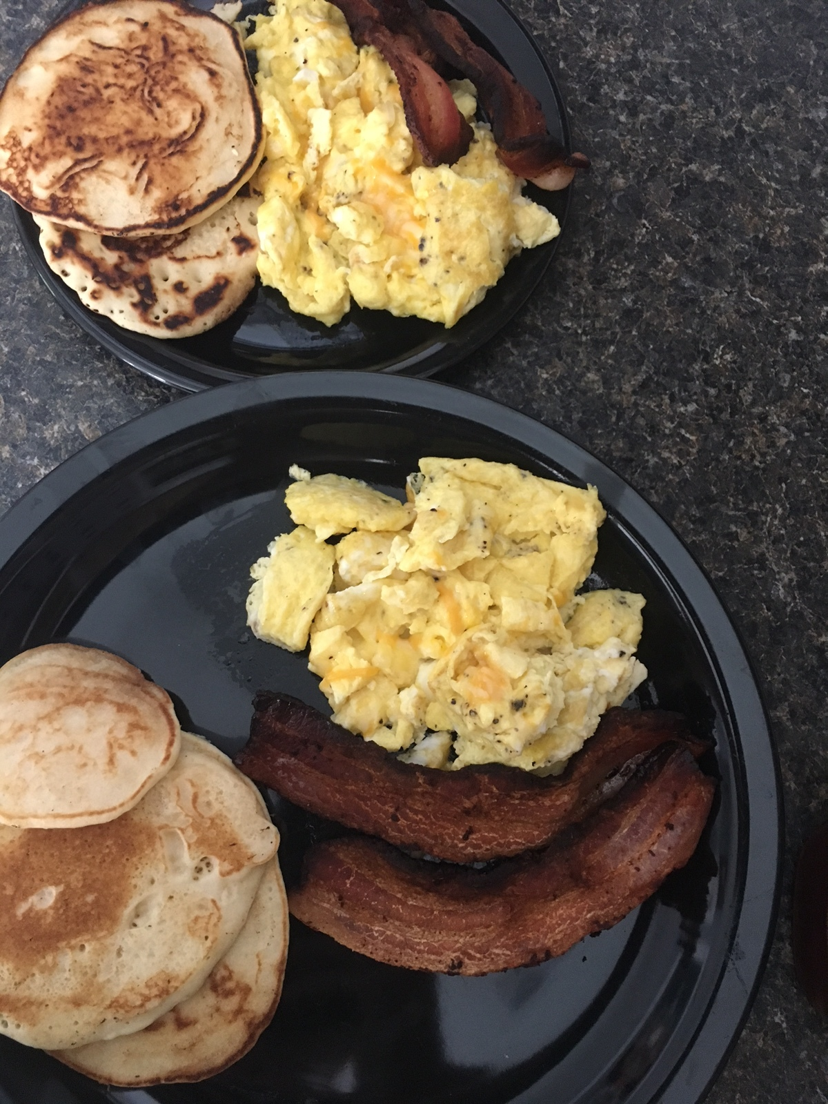 Protein pan cakes and the classic Ky Darling bacon and eggs