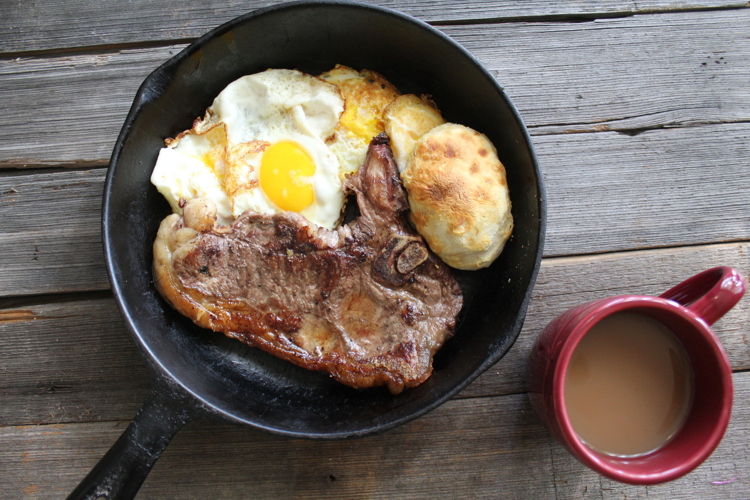 Ky Darling t- bone Steak and Eggs!
