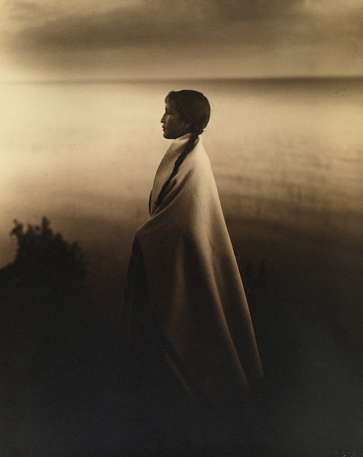 portrait of an ojibway, or chippewa woman in 1907. photograph by roland w. reed, national geographic ~