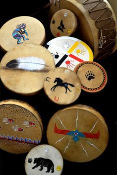 authentic native american handcrafted drums ~