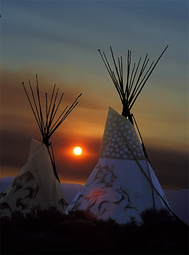 two tee pees at taos drum, taos, new mexico ~
