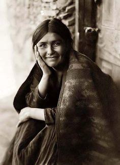 navajo smile taken in 1904 by edward s. curtis ~