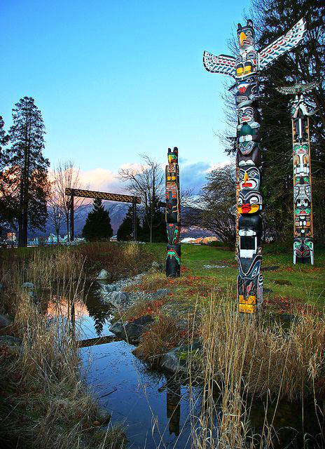 totem poles at vancouver's stanley park ~