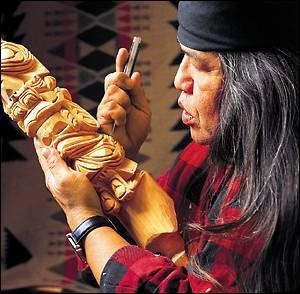 rick williams inherited his skills from a long line of nitinaht carvers on vancouver island ~