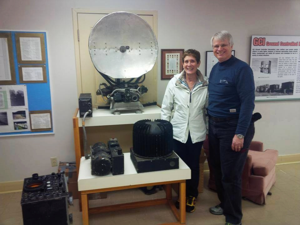 Rob and Linda Adams with the H2X.  Linda is the daughter of Ken Shoultz, WW2 radar veteran with the Ottawa Radar Group.