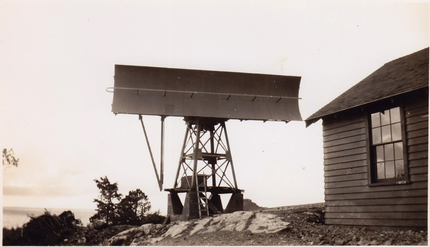Top of Radar Hill, Tofino, BC. c.1943. From the Chown Collection, Secrets of Radar Museum