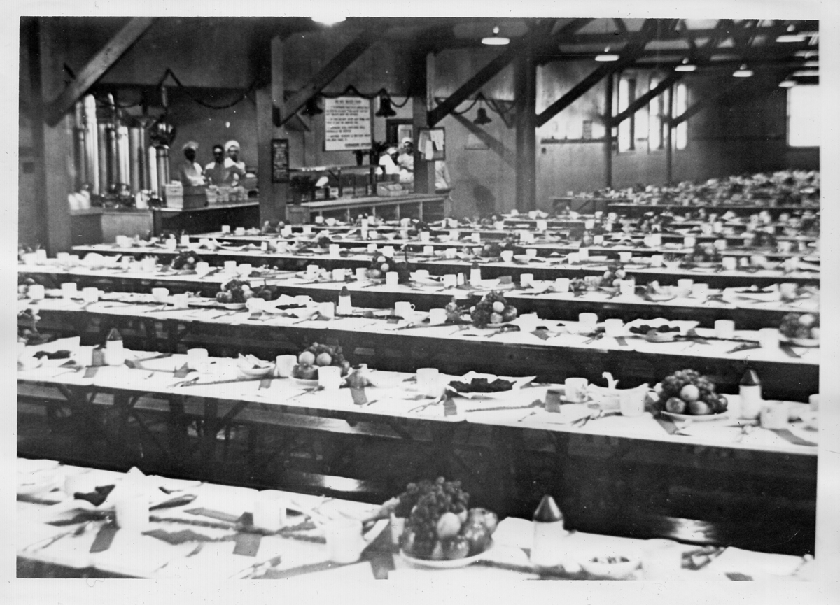 Christmas Dinner, Clinton Radio School, 1941
