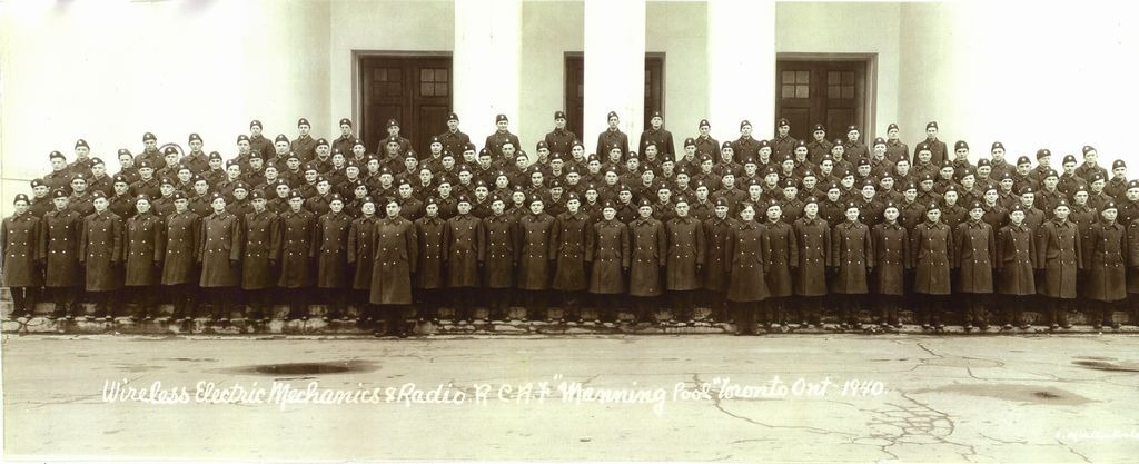 Some of the first radar recruits in Toronto, Dec. 1940