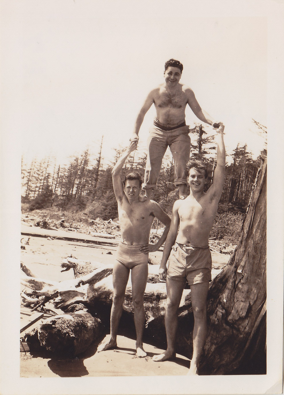 On the Beach at Tofino, BC, c.1944