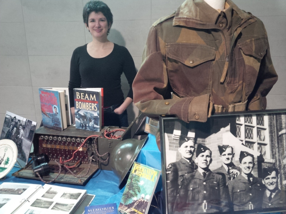 Bethany staffs our booth at the Military Tattoo on Feb. 2nd.