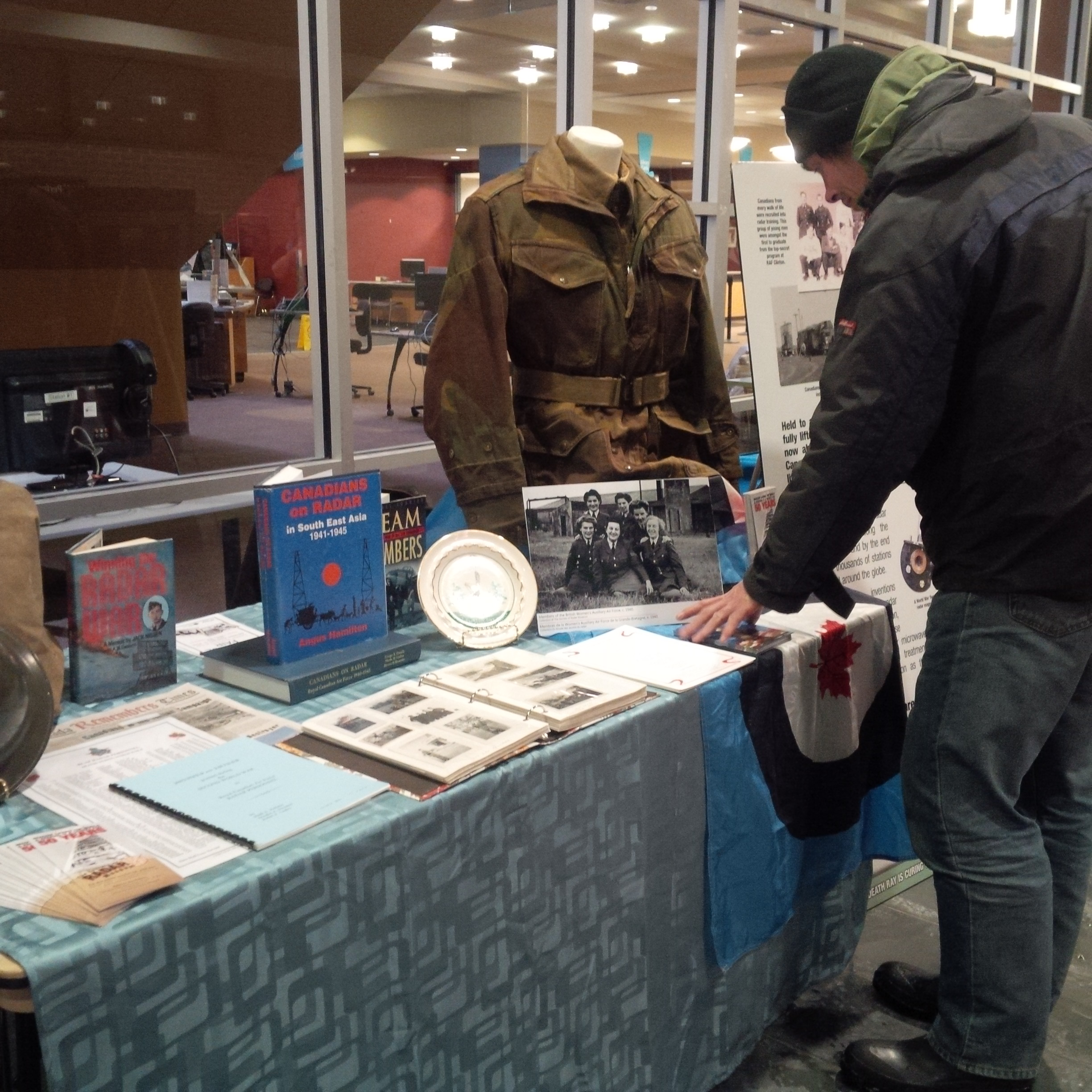 One of the first visitors to our display at Central Branch for the Heritage Fair.