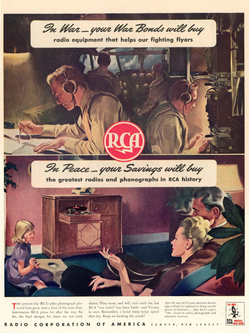 Original RCA advert, c.1944. Collection of the Secrets of Radar Museum
