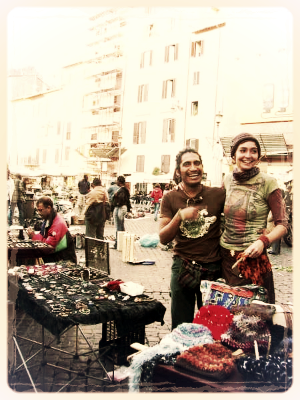 First days of street vending in Rome, Italy with Edgar Nabor Ortiz
