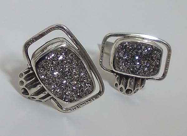 Titanium Druzy Cuff links- Available for sale. Contact Michele Judge 215-316-1309