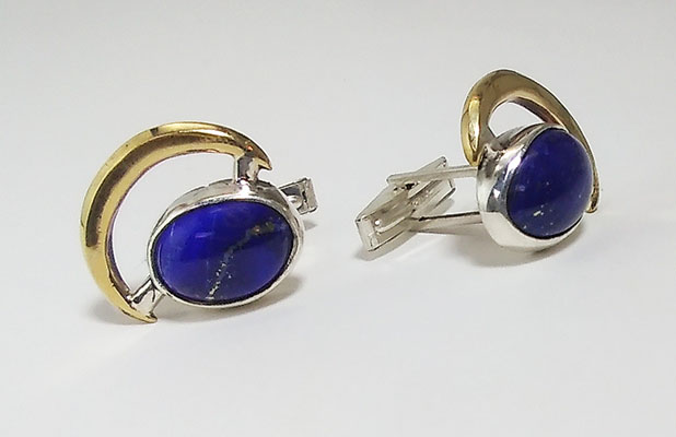 Afagan Blue Lapiz Cuff links- Available for sale. Contact Michele Judge 215-316-1309