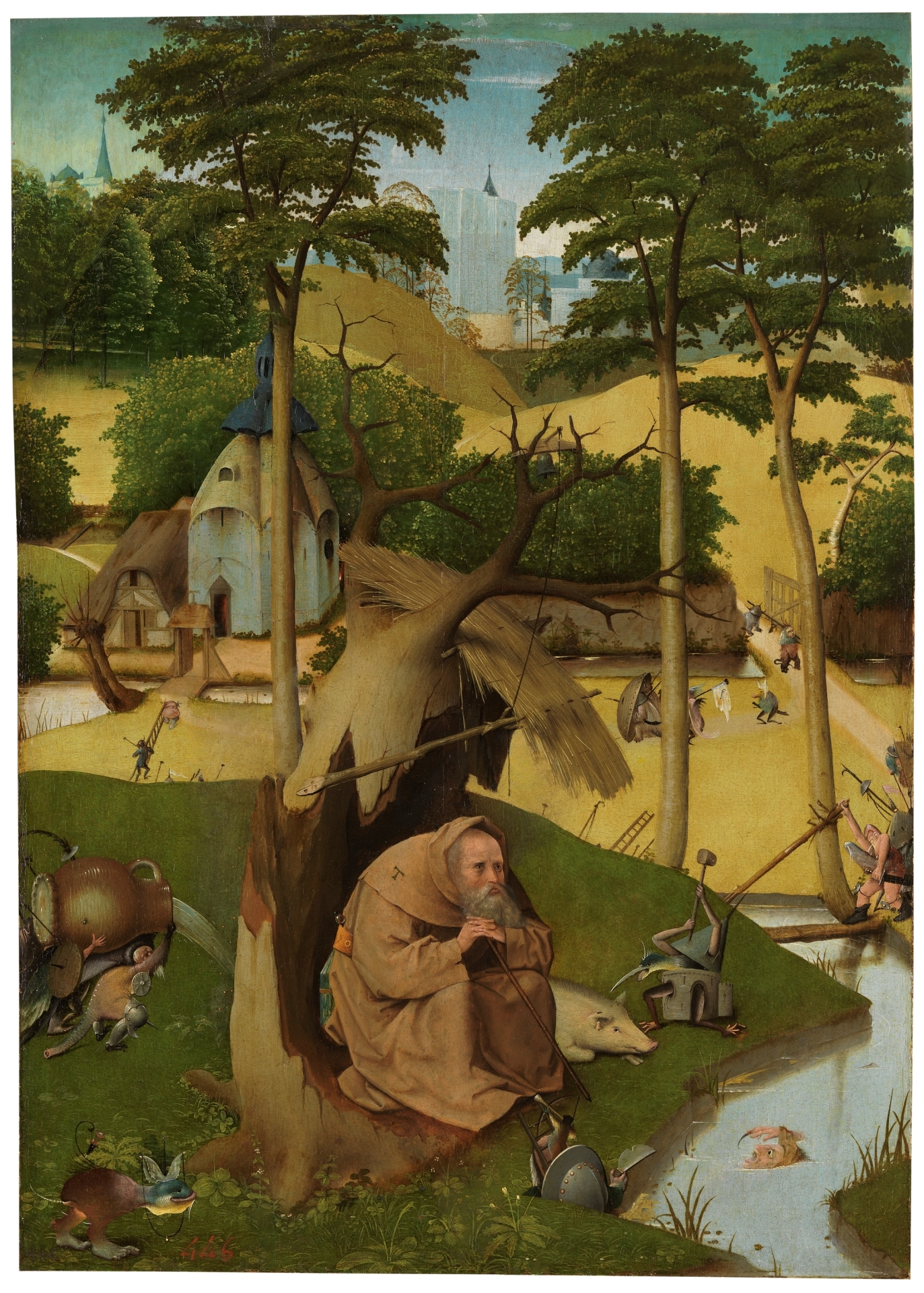 The Temptations of Saint Anthony -BOSCH, HIERONYMUS  Museo Nacional del Prado  ©   By the end of his life, Anthony learned to co-exist with the demons.