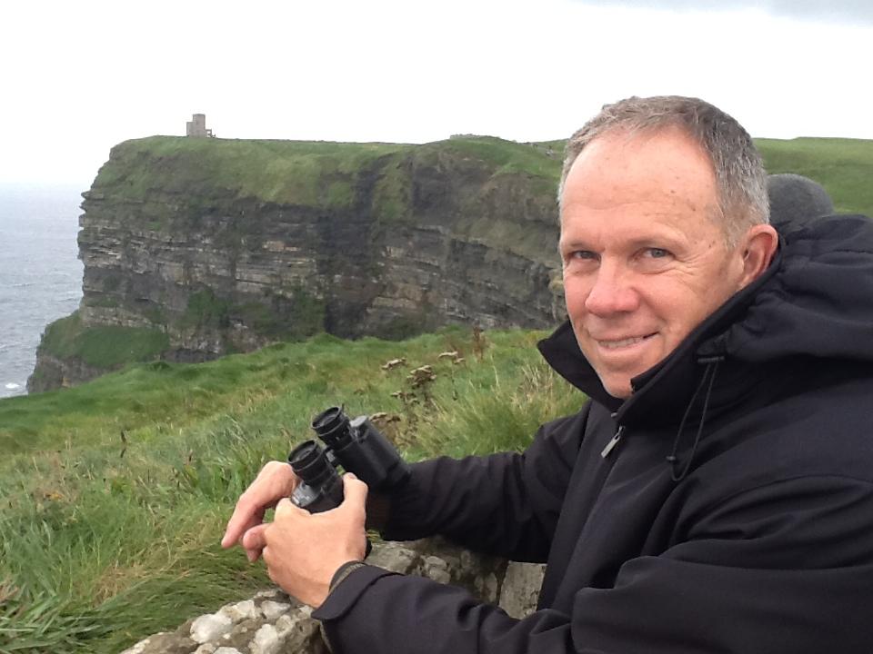 Stewart at the Cliffs of Moher, Ireland.