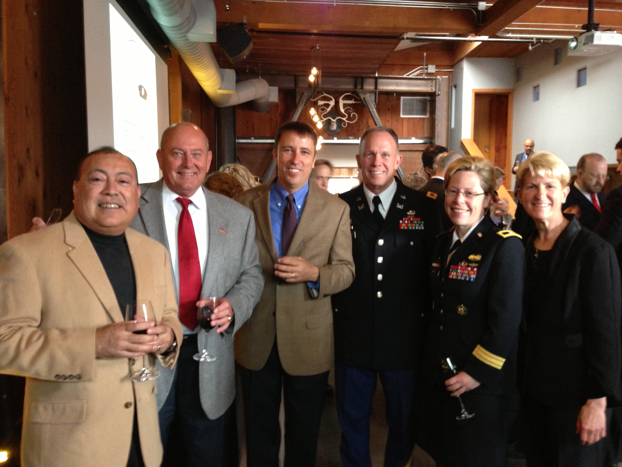 Art and (Colonel) Tom, Stephen and (Colonel) Stewart, (General) Tammy and Tracey