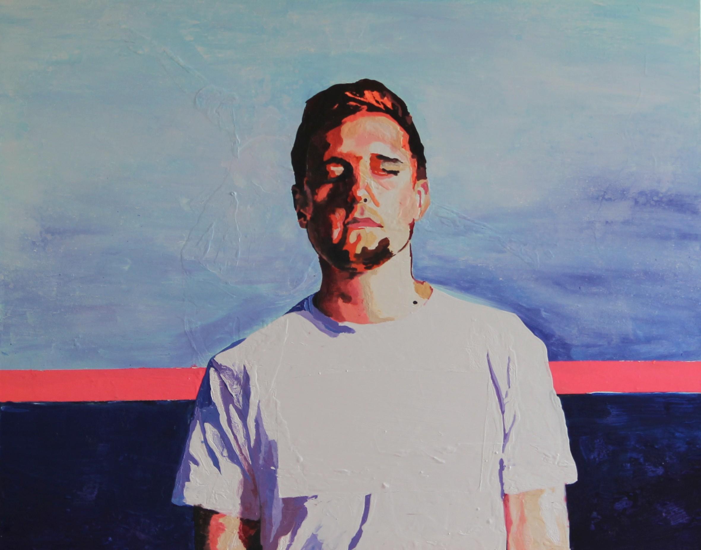 #408, 80x100 cm,acrylique et encre sur toile, 2015