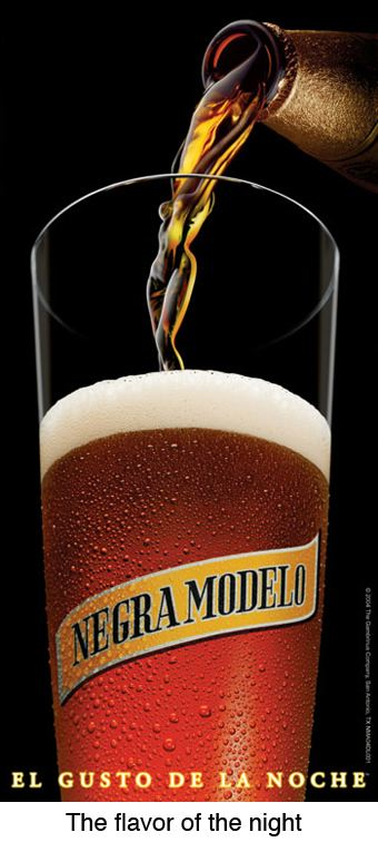 """Negra Modelo. The taste of the night..."""