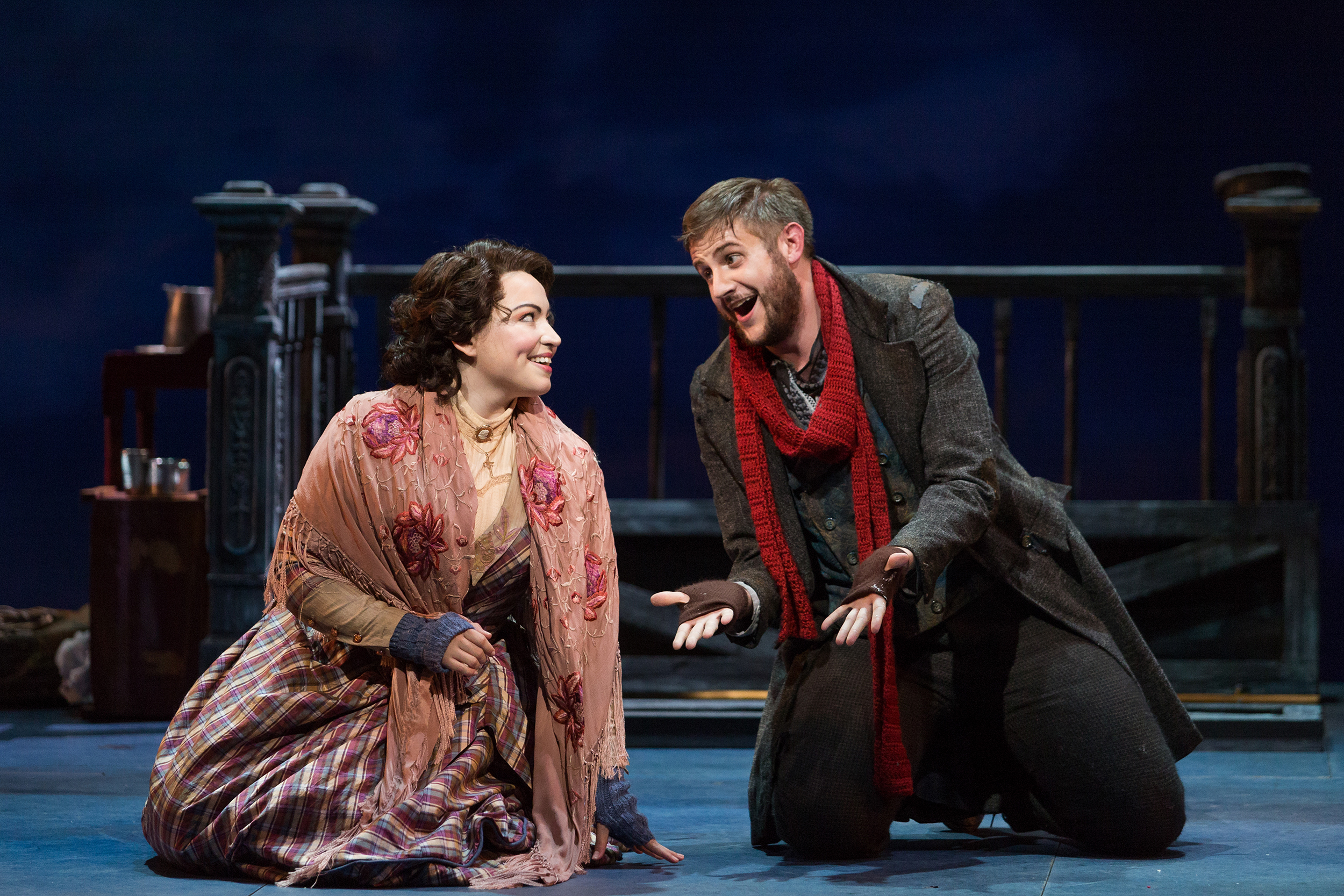 Michael Brandenburg as Rodolfo and Raquel González as Mimì in The Glimmerglass Festival production of Puccini's  La bohème .