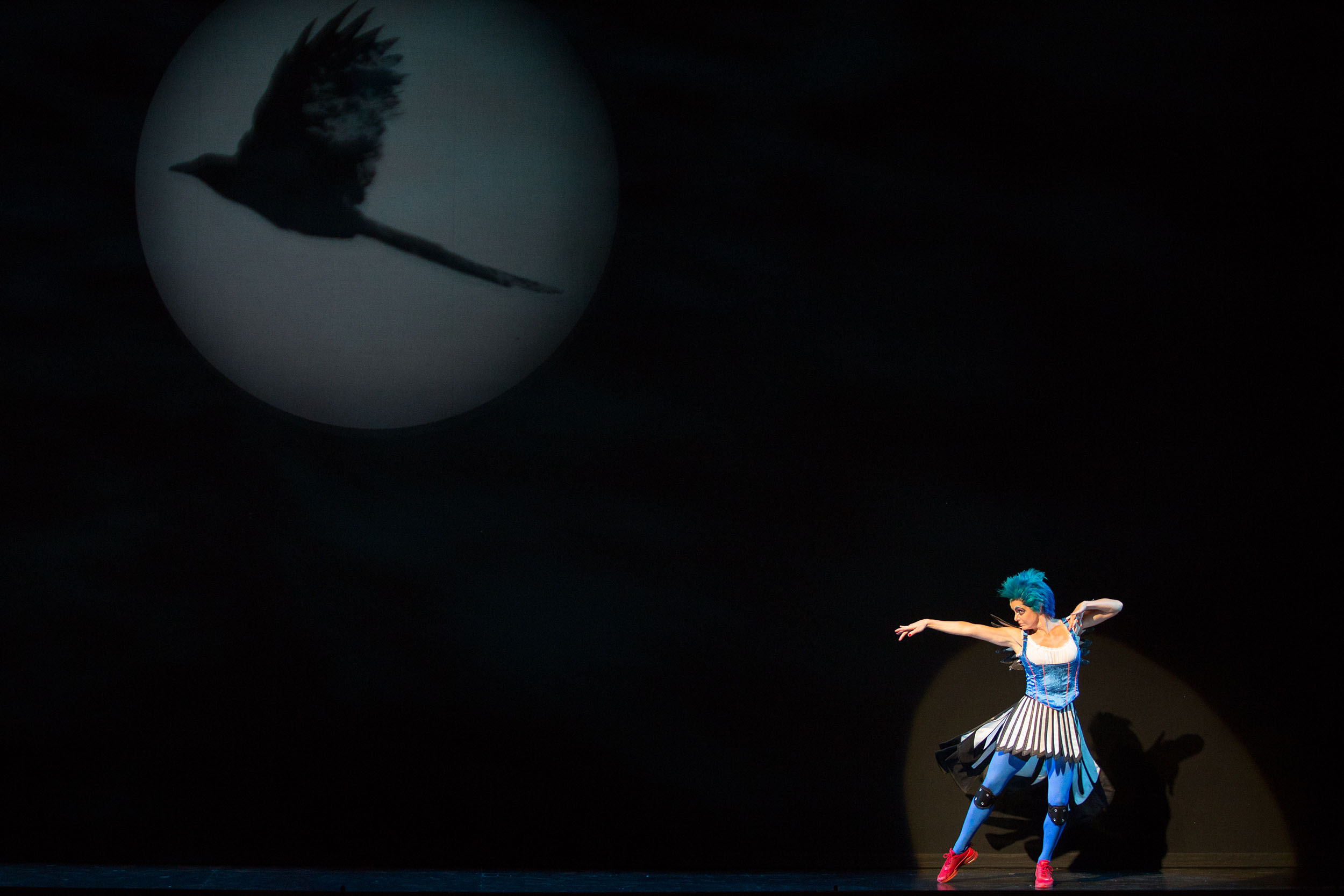 Meg Gillentine as the Magpie in The Glimmerglass Festival's production of Rossini's  The Thieving Magpie .