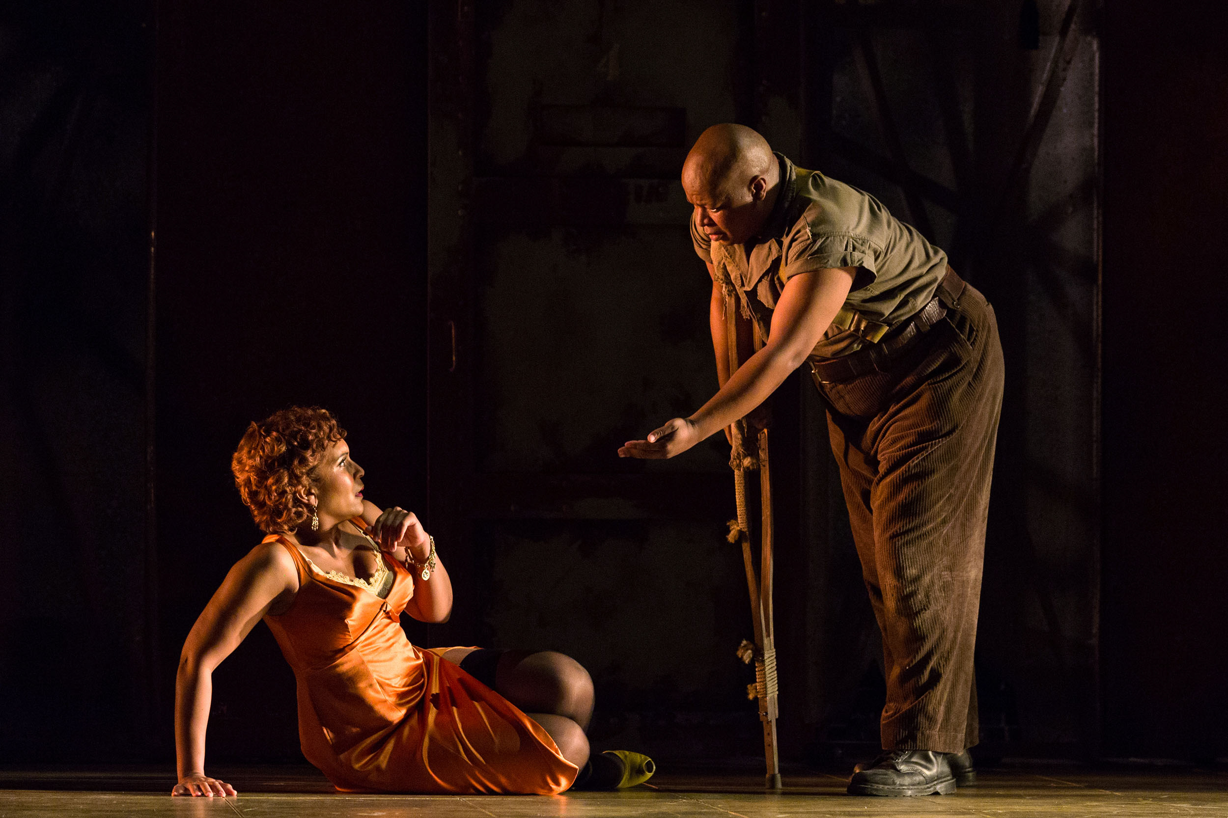 Talise Trevigne as Bess and Musa Ngqungwana as Porgy in The Glimmerglass Festival's 2017 production of The Gershwins'  Porgy and Bess .