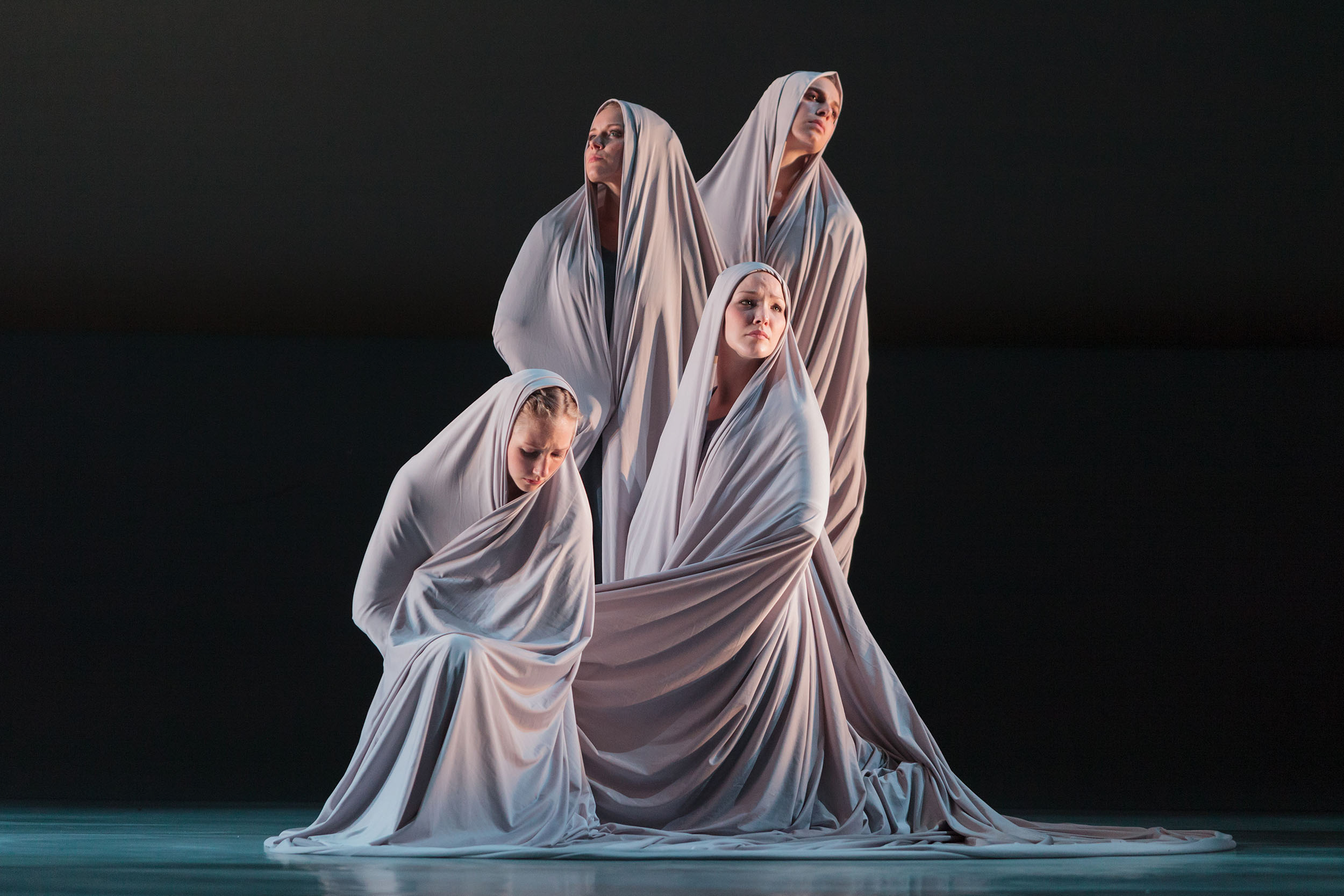 L to R: Ensemble members Andrea Beasom, Anne O'Donnell, Sarah Parnicky and Lily Smith in The Glimmerglass Festival's 2013 production of Pergolesi's  Stabat Mater .