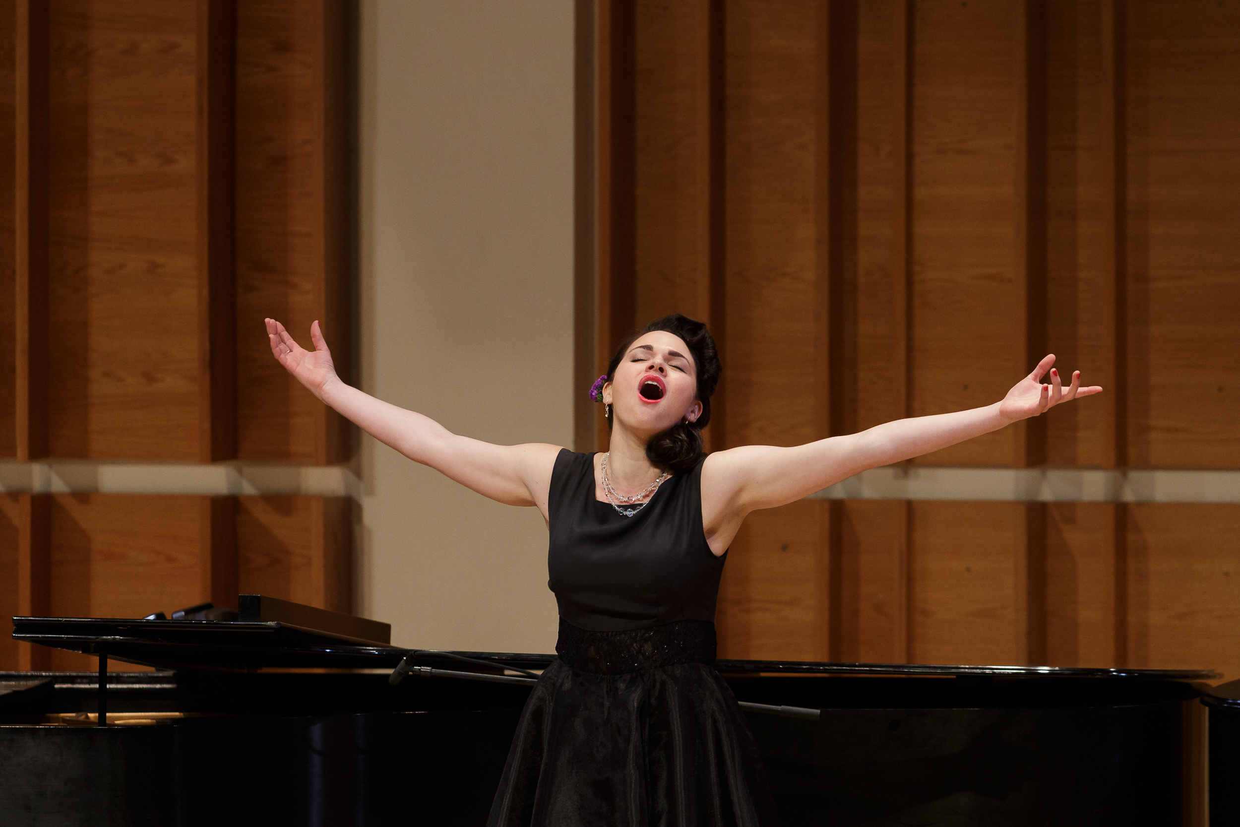 Soprano María Valdés performs in New York Festival of Song's  Compositora  program.