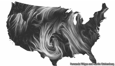 Figure 3: The Wind Map Project      Source   : Hint.fm