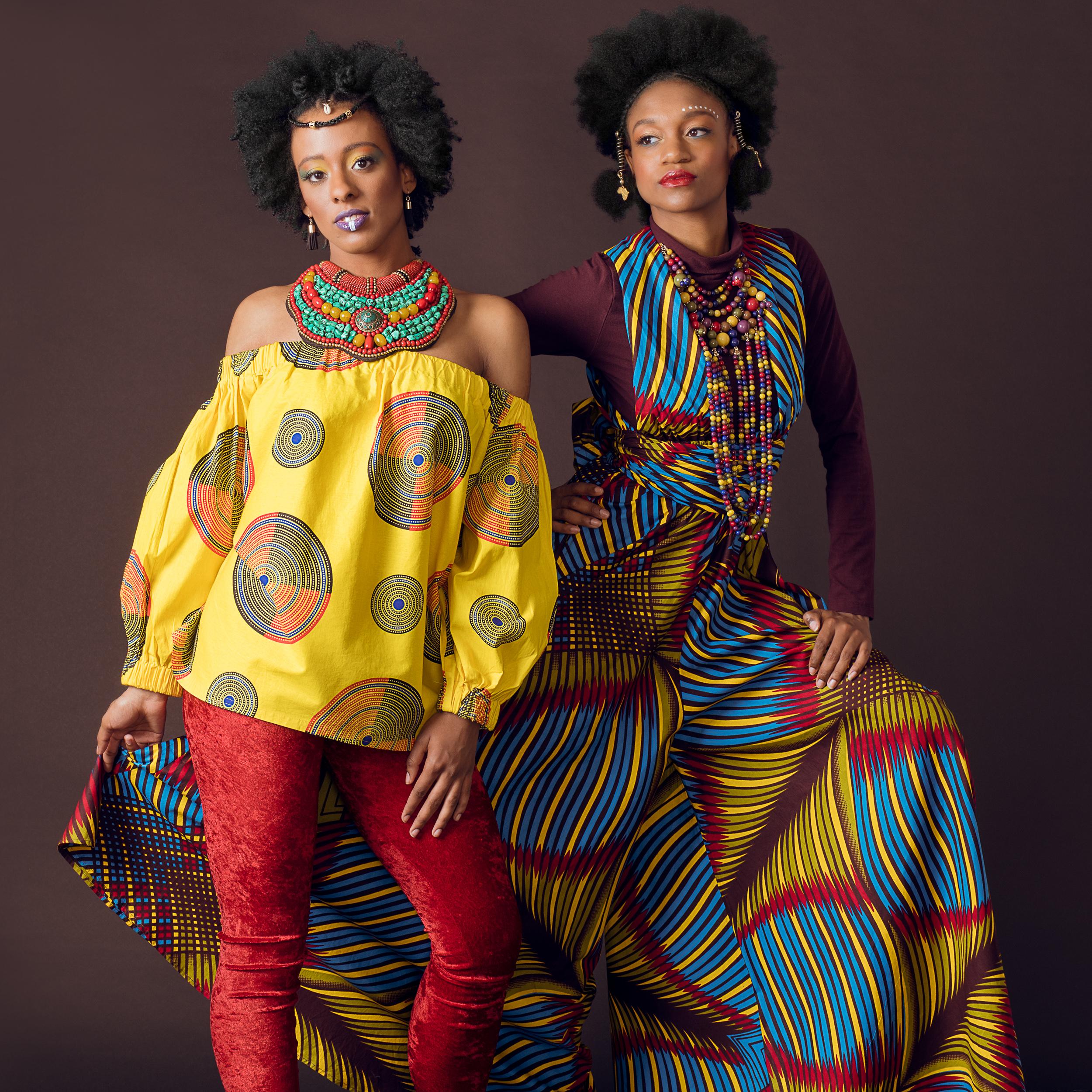 mariah adele and zakeya brown / fashion: codi banks / styling: dareme by tynae / mua: nikki brown / hair: kiera moss