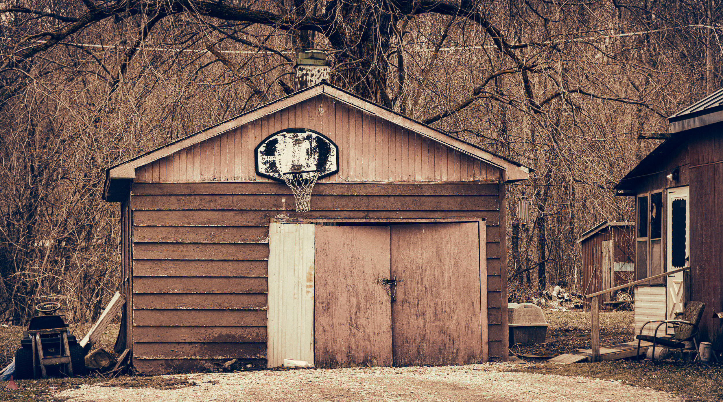 Basketball with Pink, Montrose, Iowa