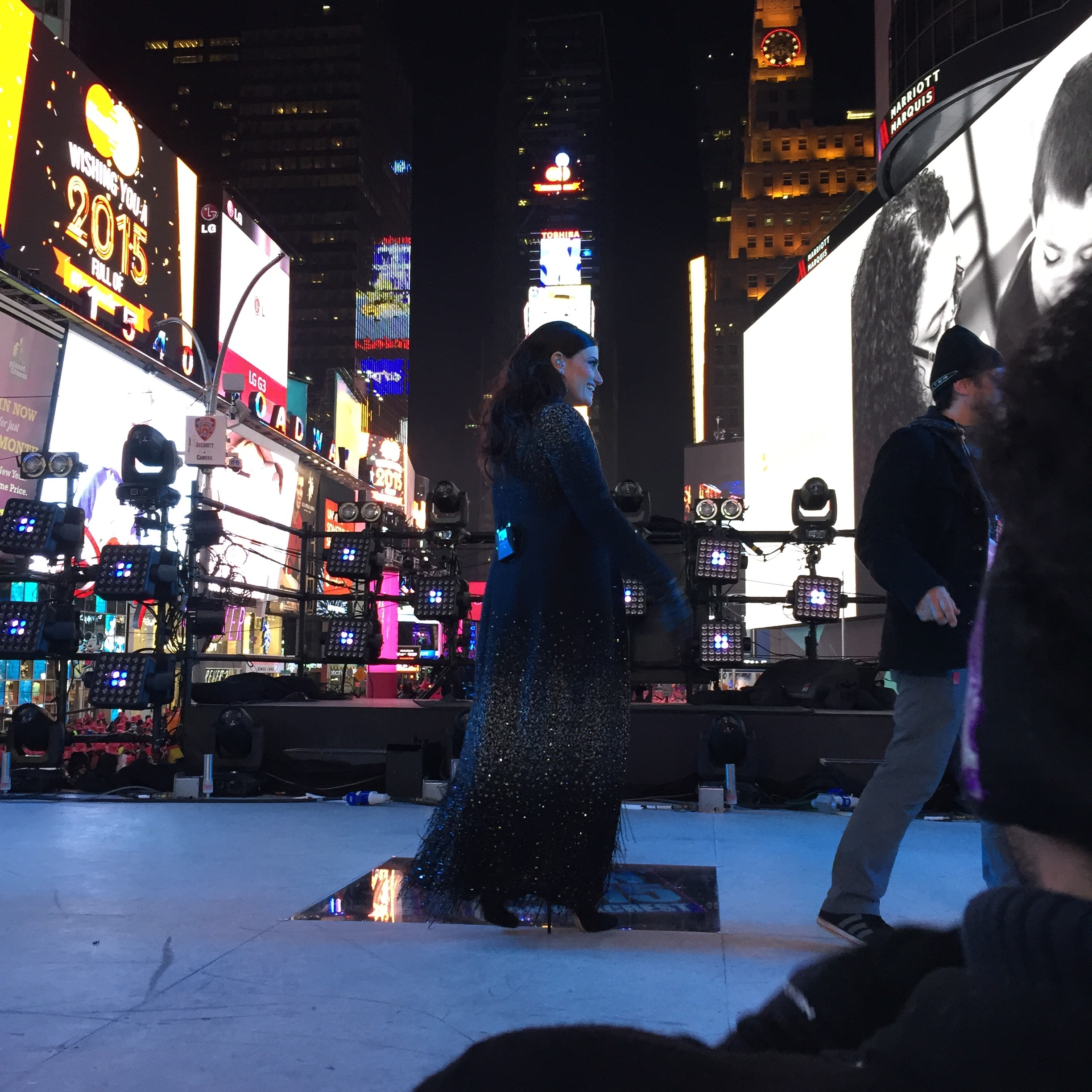 Idina Menzel in Times Square