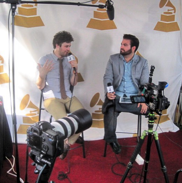 Joey interviewing Michael Angelekos of Passion Pit live for the GRAMMYs at Austin City Limits