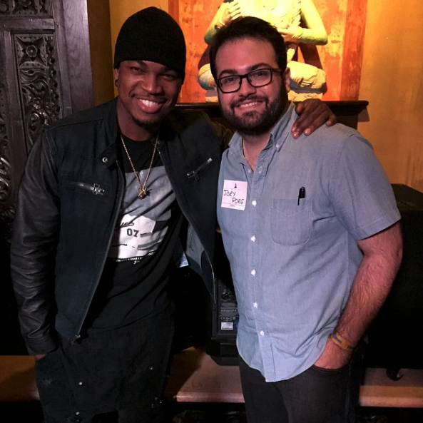 Joey and Ne-Yo at a GRAMMY event at the House of Blues in Dallas, TX