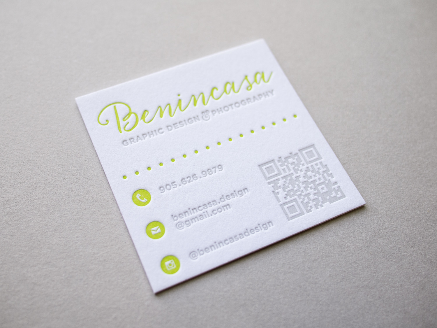 Benincasa Letterpress Business Card