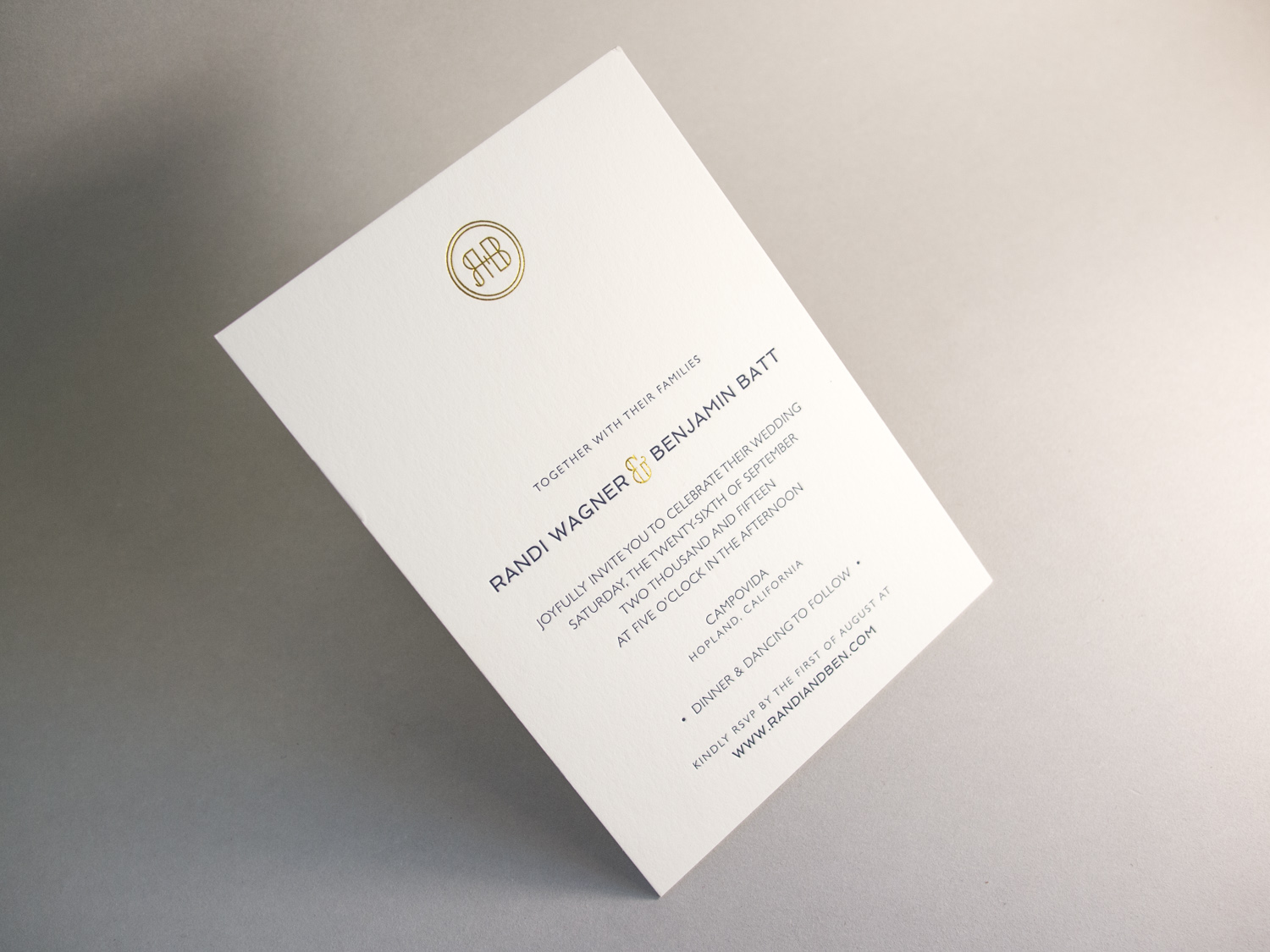 Letterpress Foil Invitation