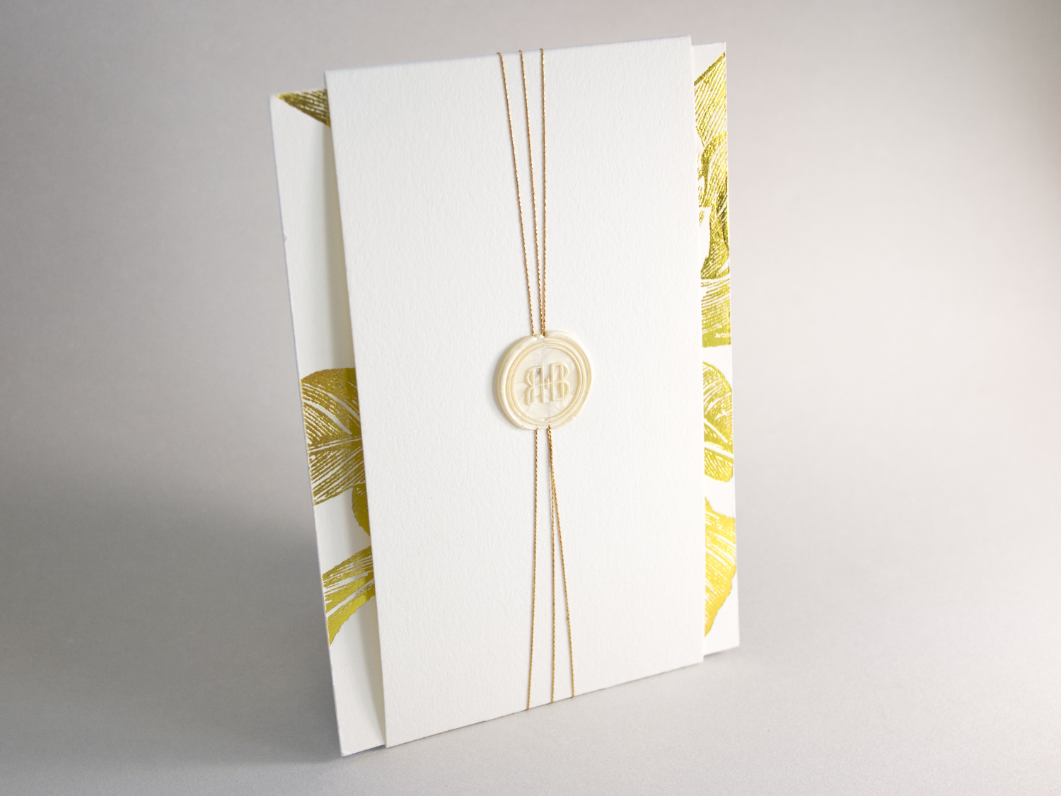 Gold Foil Invitation With Wax Seal