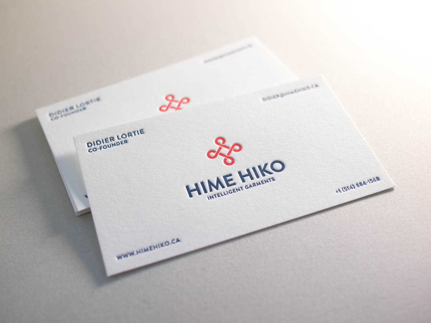 Letterpress Business Card for Hime Hiko