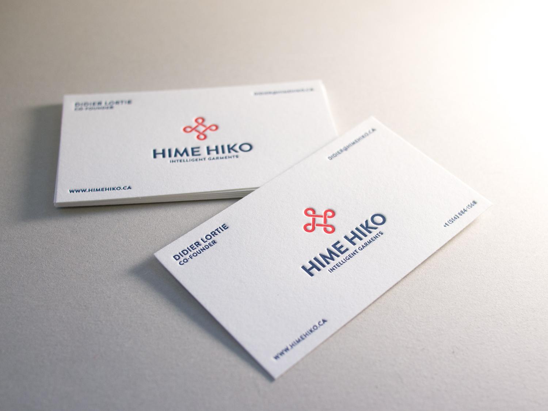Letterpress Business Card for Hime Hiko