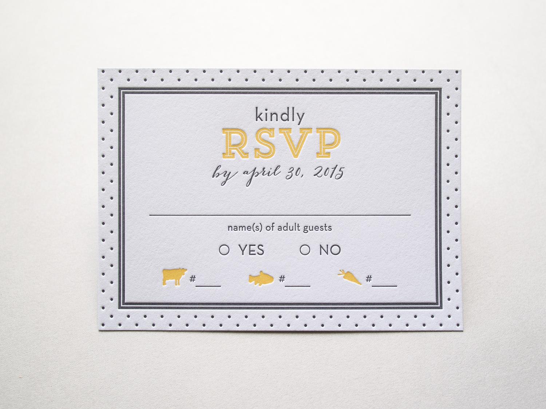 Letterpress RSVP